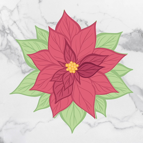 Stamp & Die Set - The Gift of Giving - Layered Poinsettia