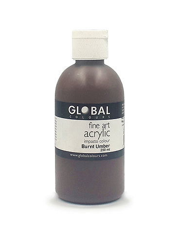 Global Artist Acrylic - Burnt Umber - 250ml