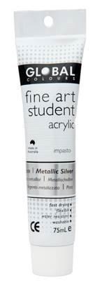 Global fine art student acrylic 75ml - Silver