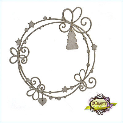 2Crafty Chipboard - Whispy Christmas Page Frame