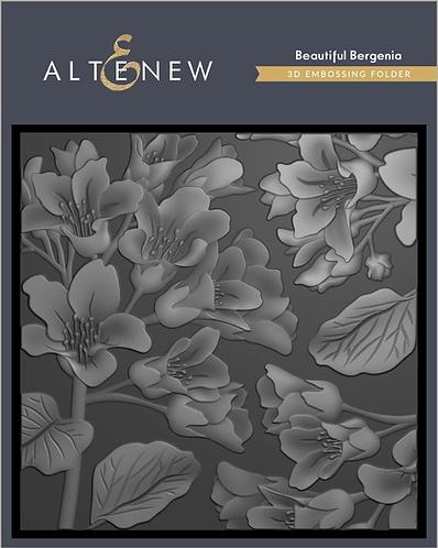 Beautiful Bergenia 3D Embossing Folder by Altenew®