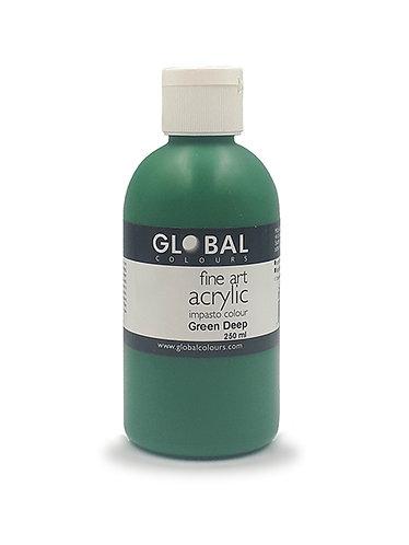 Global Artist Acrylic - Green Deep - 250ml