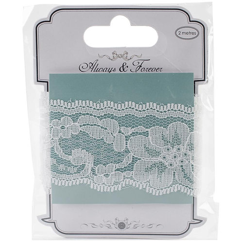 """Craft Consortium Always & Forever Lace Ribbon 1.75""""X2m"""