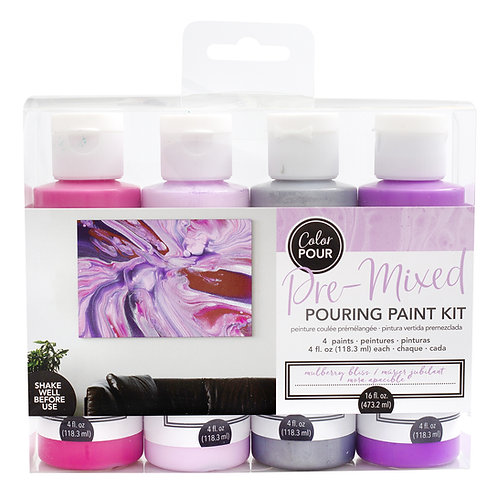 American Crafts Color Pour Kit - Mulberry Bliss