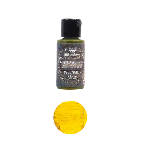 Art Alchemy – Liquid Acrylics – True Yellow –  30ml