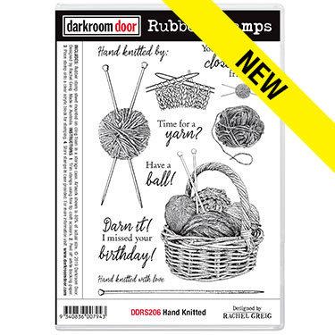 Darkroom Door Rubber Stamps - Hand Knitted