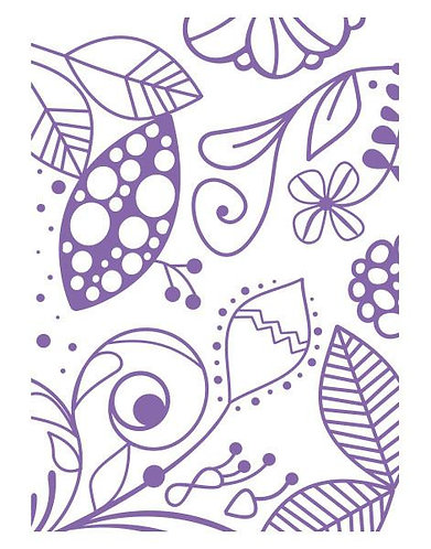 Couture Creations Embossing Folder - Great Fubu