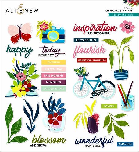 Enjoy the Ride Chipboard Sticker Set by Altenew®