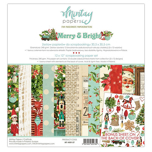 Merry and Bright 12 x 12 Paper Pack