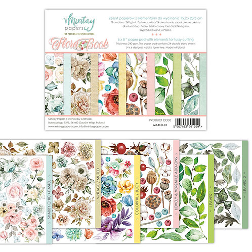 Flora Book 1 by Mintay Papers 6 x 8