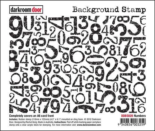 Darkroom Door Background Stamp - Numbers