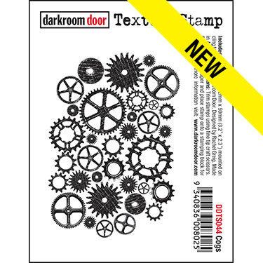 Darkroom Door Texture Stamp - Cogs