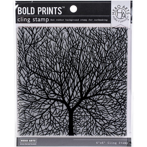 "Hero Arts Cling Stamps 6""X6"" - Bare Branched Tree"