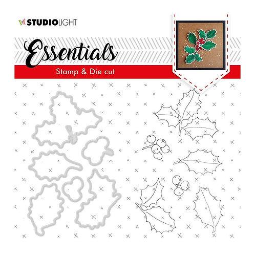 Studio Light Essentials Stamp & Die Set - Holly