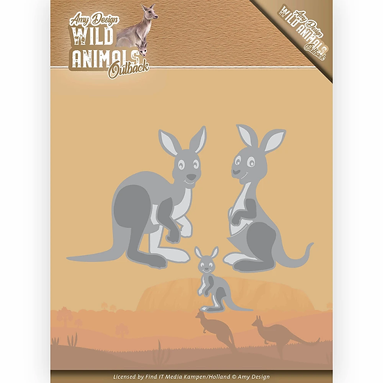 Wild Animals Outback by Amy Design Kangaroo Die Set
