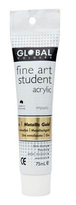 Global fine art student acrylic 75ml - Gold