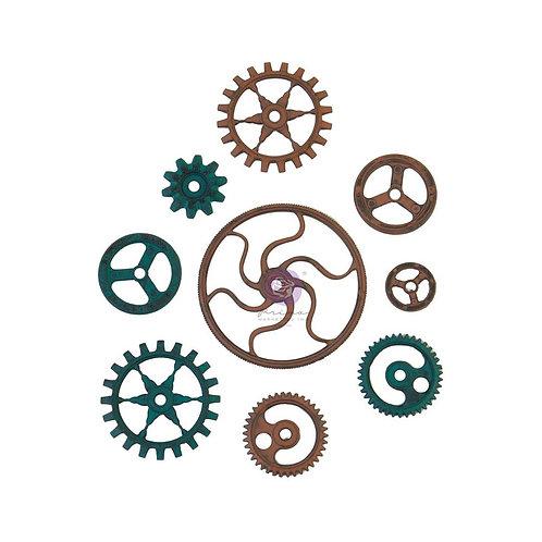 Finnabair Mechanicals Metal Embellishments - Grungy Gears