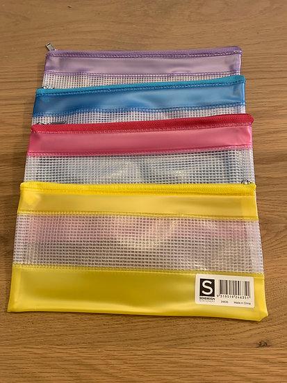 "Sovereign Plastic Mesh Pencil Cases 9"" x 4"""
