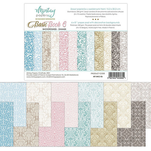 Basic Book 6 - Damask by Mintay Papers - 6 x 8