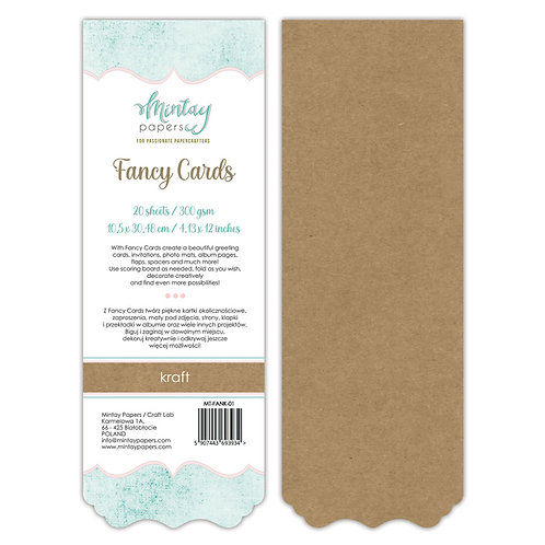 Fancy Cards - Kraft - by Mintay Papers