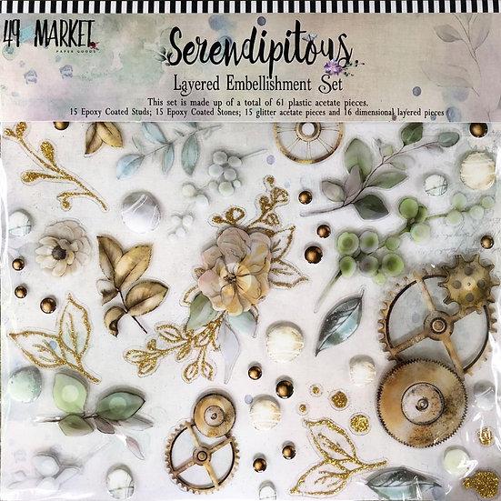 49 and Market® Layered Embellishment Set - Serendipitous