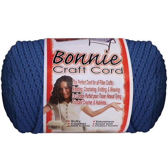 Pepperell-Bonnie Macrame Neon Craft Cord - Prussian Blue