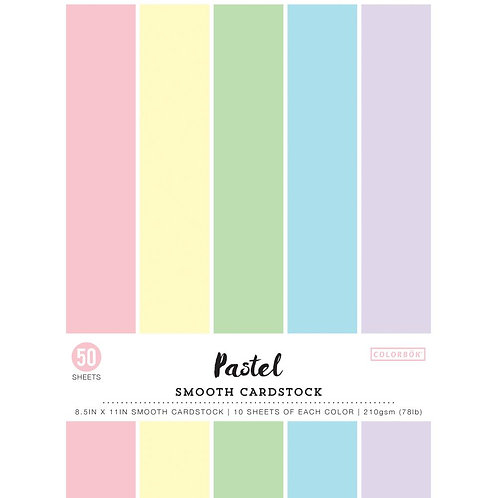 """Colorbok® Smooth Cardstock stack 8.5"""" x 11"""" - Pastel"""