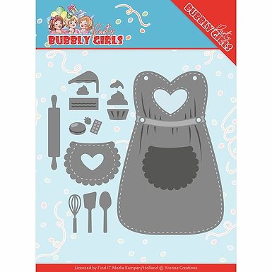 Bubbly Girls Apron die set from Yvonne Creations