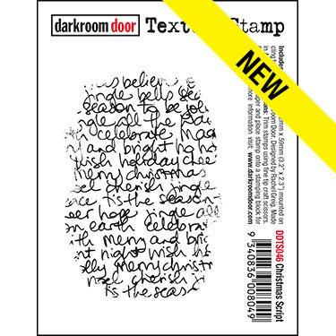 Darkroom Door Texture Stamp - Christmas Script