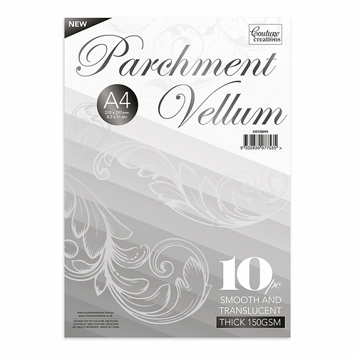 Couture Creations® A4 Parchment Vellum - 150gsm - 10 sheets