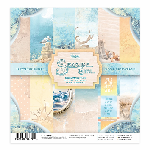 Couture Creations® - Seaside Girl- 6.5 x 6.5 Paper Pad - 200gsm