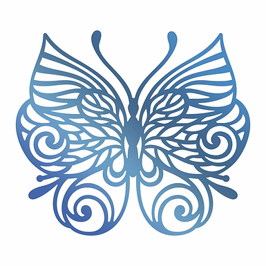Couture Creations®Hotfoil Stamp - Barogue Butterfly