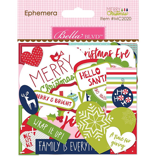 Bella Blvd® Ephemera Words - Merry Christmas