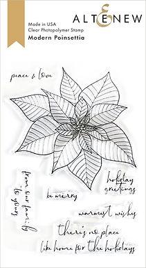 Altenew® Modern Poinsettia Stamp Set