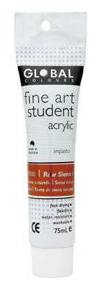 Global fine art student acrylic 75ml - Raw Sienna