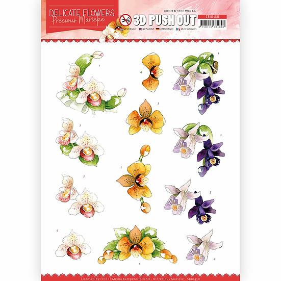 Precious Marieke® 3D Push Outs - Orchid