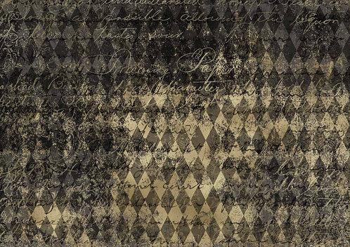 Decoupage Queen® Decoupage Paper - Black & Gold Harlequin