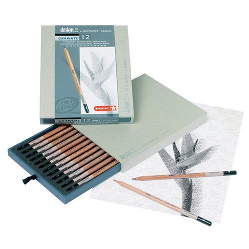 Bruynzeel Design Graphite Pencil Box 12
