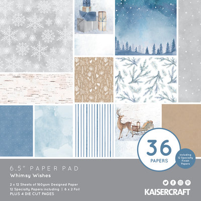 """Kaisercraft® Whimsy Wishes 6.5"""" paper pad"""