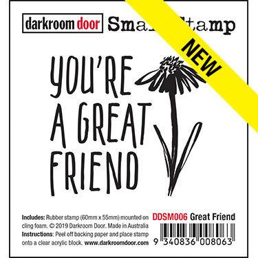 Darkroom Door Small Stamp - Great Friend