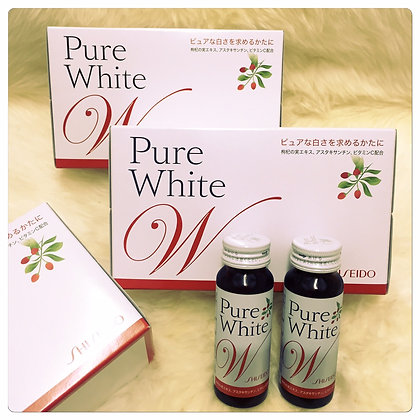 SHISEIDO PURE WHITE W DRINK ( 10 bottles )