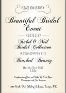 Brushed Beauty Invitation