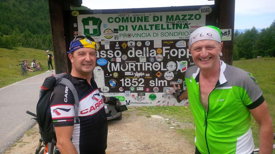 At the Mortirolo Pass