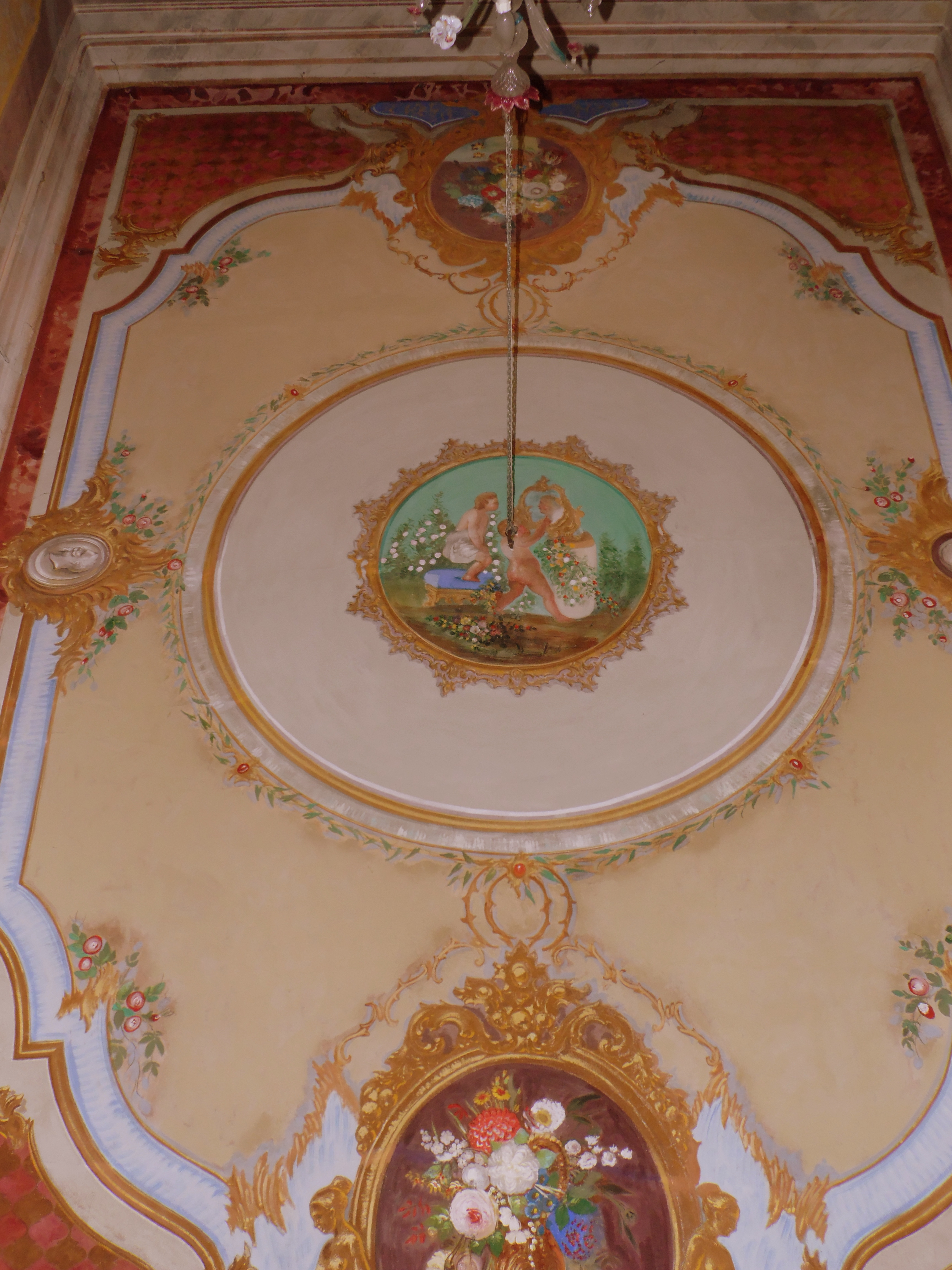 ceiling of the Villa