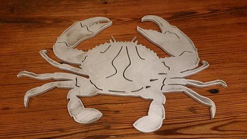 """16"""" x 11""""  Aluminum Blue Crab"""