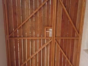 Spotted gum hardwood security door