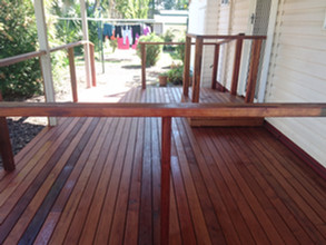 Merbau hardwood deck