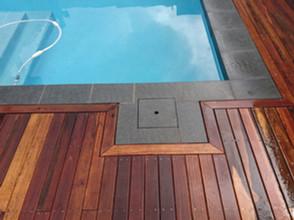 Spotted gum hardwood deck