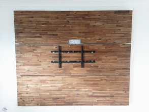 T.V feature wall ( T.V mount, HDMI cabling & power points)