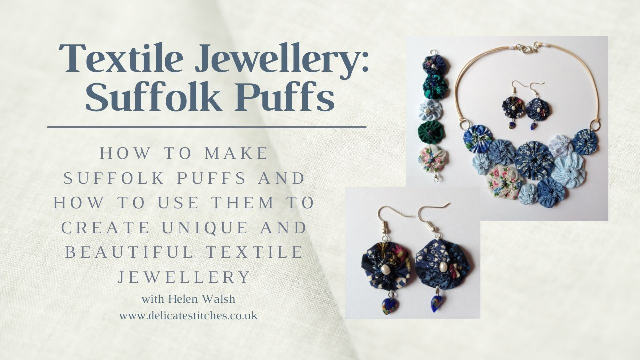 Textile Jewellery: Suffolk Puffs
